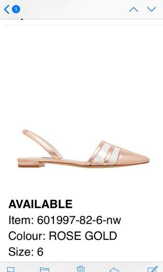 NINEWEST rose gold flats size 6 NEW IN BOX