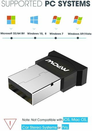 (M249) Mpow Bluetooth USB Adapter for PC, Bluetooth Dongle for Computer/ Laptop