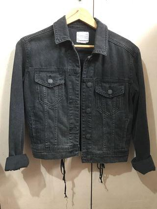 American Eagle Black Denim Jacket