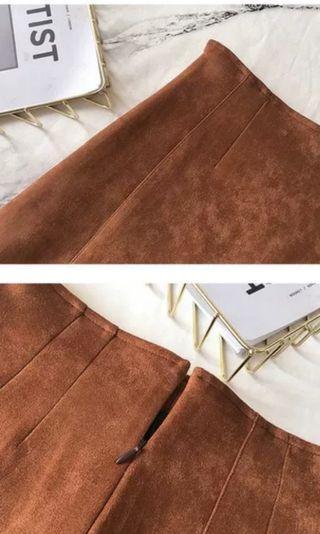 Ulzzang Korean Brown Skirt