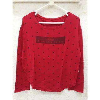 Mix 3styles/80k Kaos Wanita Merah Preloved