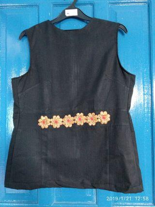 #Bapau [Nego/barter] Black Top hitam [Mint]
