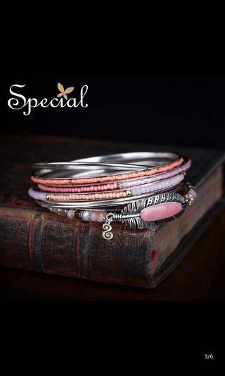 Special Europe and America retro multi-layer bracelet cherry blossoms hand ornaments female bracelets exotic jewelry hand ring Loulan ancient town