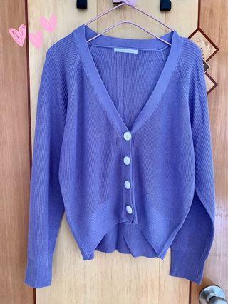 紫色針織外套