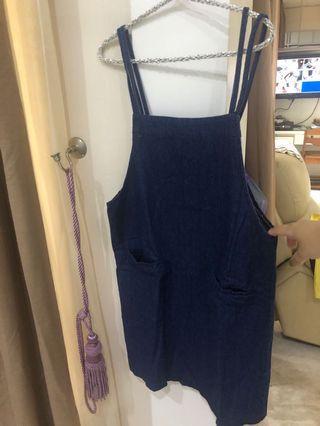 Denim outer dress