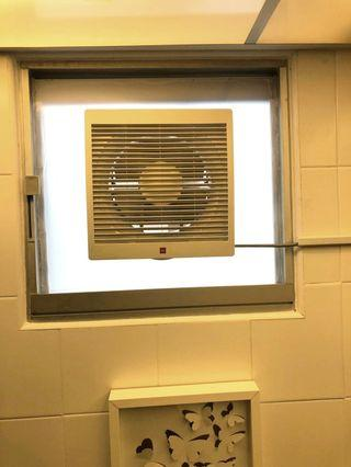 Bto Toilet exhaust fan Bto light panel mesh to acrylic frosted ambient lighting installation