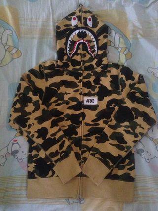 Bape shark 1st camo fullzip hoodie