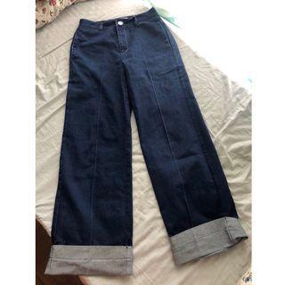 牛仔闊褲 denim jeans