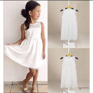 White Lace Dress chiffon