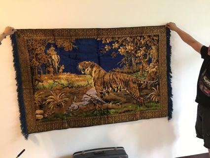 非洲進口壁毯,獅子圖