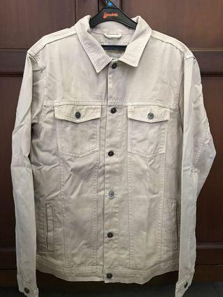 Pull&Bear Trucker Jacket Desert White