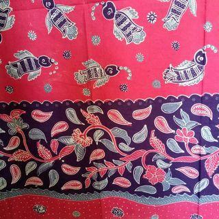 Kain batik tulis pink abu kombinasi