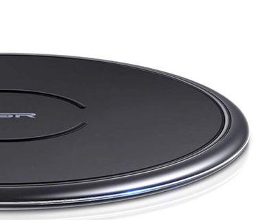 (E1650) ESR Wireless Charger, [7.5W/10W] Metal Frame Ultra-Thin Qi Charging Pad, Fast Charging for iPhone XR/Xs Max/Xs/X, Samsung Galaxy S10/S10+/S10e/S9/Note 9, Charging for AirPods, Google Pixel 3, Black