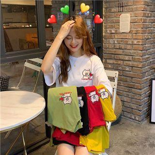 🔥 (5 Colour) Lucky Pig Cartoon Ulzzang Cute Tee