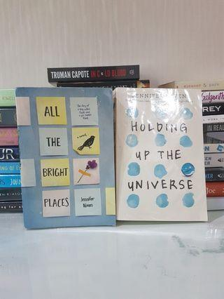 ALL THE BRIGHT PLACES , HOLDING UP THE UNIVERSE [NEGOTIABLE]