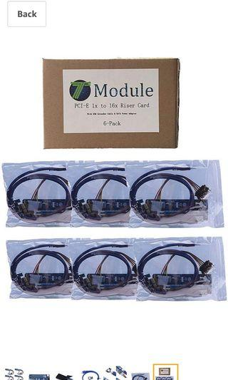 🚚 T-Module PCI-E Express 1x to 16x powered riser cable