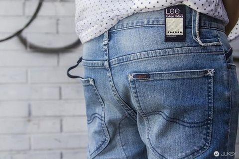 🚚 「全新」Lee UR urban rider 牛仔褲 slim fit 機能牛仔 淺藍 絕版 levis edwin