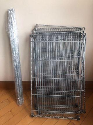 不鏽鋼架 18吋長x30吋闊x高35 吋(或者70)吋