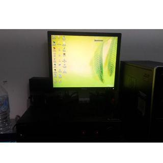 jual 1 set pc+monitor+amply+big speaker+keyboard+mouse