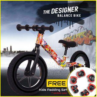 [Red] Balance Bike Original CNCUBE Designer Kids No-Pedal Push Bike