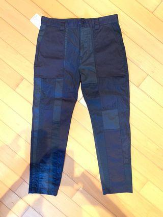 White Mountaineering Patchwork pants Navy Size 1