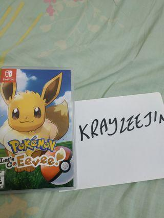 WTS Pokemon Let's Go Eevee
