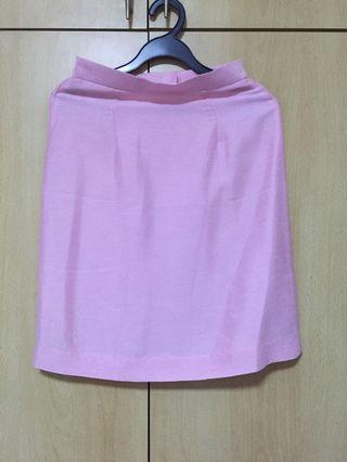 🚚 Sweet Pink Office Skirt