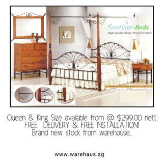 🚚 Brand New Poster Bed (Queen and King Available)