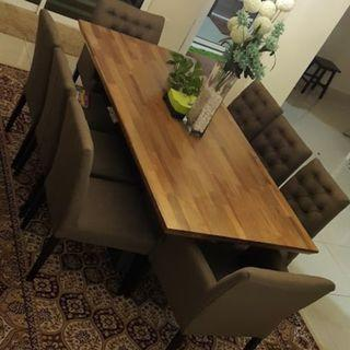 Luxury akasia dining table