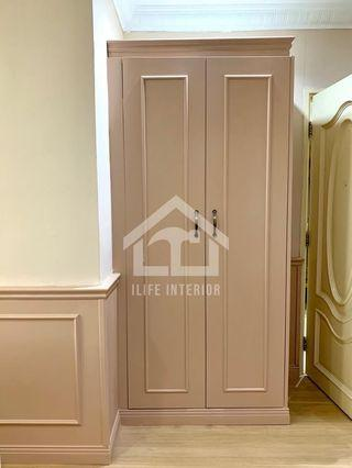 Wardrobes with wainscoting style