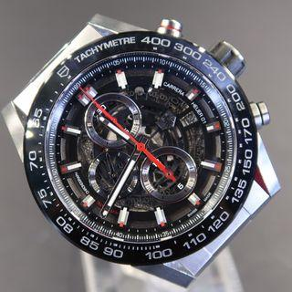 Pre Owned Tag Heuer Carrera Skeleton CAR2A1W.BA0703