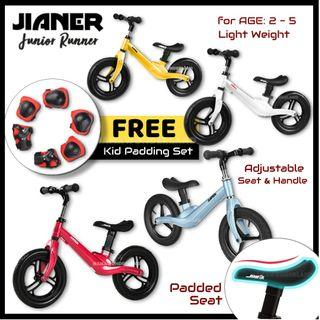 [FREE PADDING] Balance Bike JIANER Junior Runner Push Bike Kids Bike No Pedal