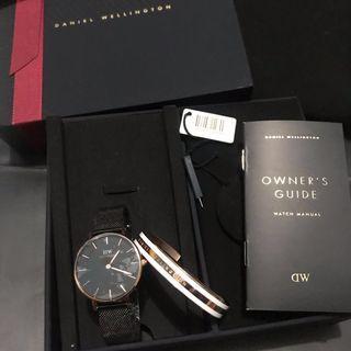 Daniel Wellington Petite Ashfield + Bracelet GIFT SET DW
