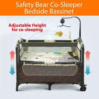 Safety Bear 3-in-1 Co Sleeper Bedside Bassinet Baby Cot / babycot / baby crib / playpen /  baby bassinet