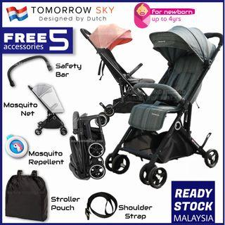 [Free 5 Gifts] Tomorrow Sky Baby Stroller Ultra Light Cabin Size Travel Stroller