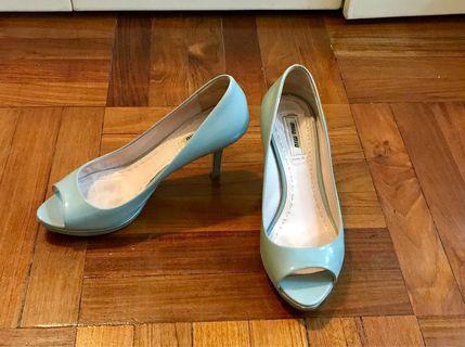 Miu Miu blue heels