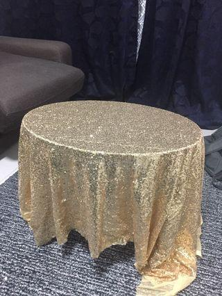 Rose Gold Sequin Table Cloth (1 meter)