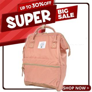 Ready Stock! | Anello High-Density Nylon Mouthpiece Backpack (Natural Pink) | 100% Authentic!