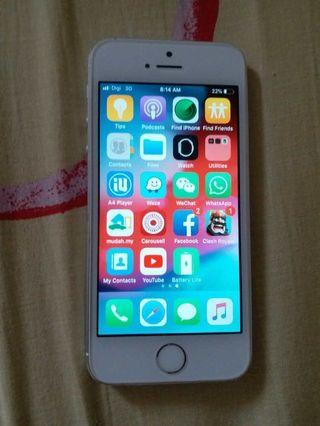 IPhone 5s 64gb silver myset
