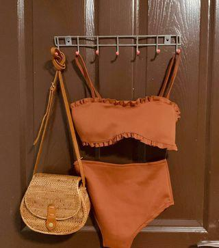 (REDUCED PRICE) BRAND NEW PADDED TWO PIECE BIKINI BROWN COLOR