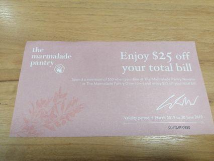 🚚 The Marmalade Pantry Voucher