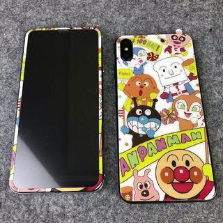 iPhone XS Max 卡通 麵包超人 螢幕貼+背貼一套