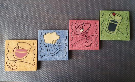 Collection_Handcrafted  Stone Coaster ( 4 pieces)