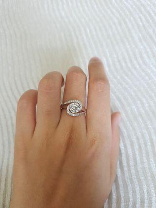 RAYA PROMO : PRADA Silver + Swarovski Zircon Ring