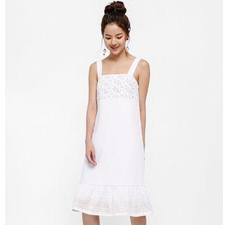 Helena Laser Cut Flared Hem Dress Capsule Collection M Size
