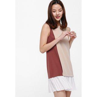 Love Bonito LB Glena Colourblock Layered Dress M Size