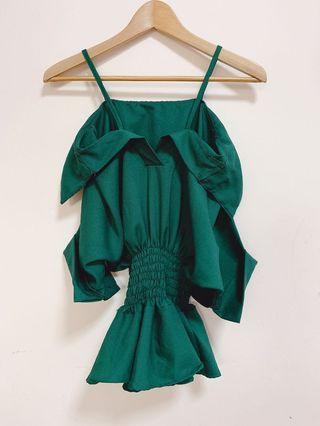 🚚 Green Off Shoulder Top