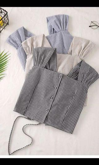 🚚 gingham top