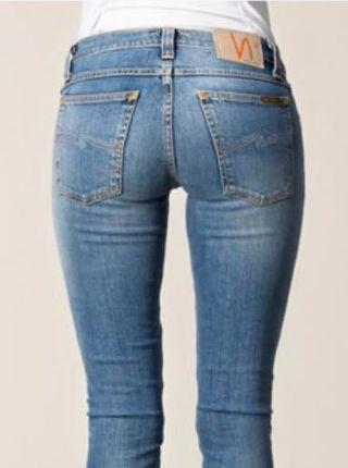 NUDIE TIGHT LONG JOHN JEANS FADED AUTHENTIC (WOMANS)
