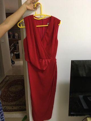 🚚 ASOS red dress